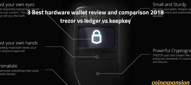 best hardware wallet trezor vs ledger vs keepkey