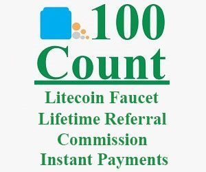 100 count litecoin faucet one of the best faucet to earn litecoin free