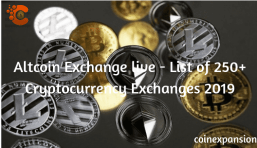 Altcoin Exchange live - 250+ list of cryptocurrency exchanges 2020 1