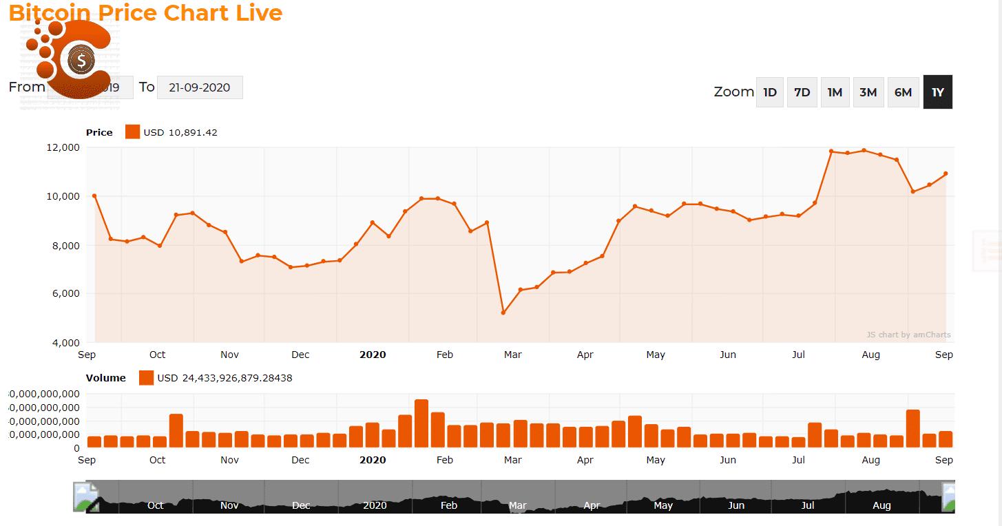 bitcoin last 1 year market cap chart