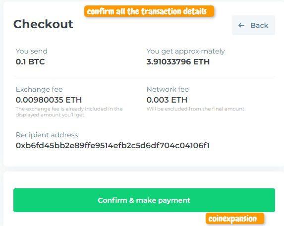 confirm transaction details