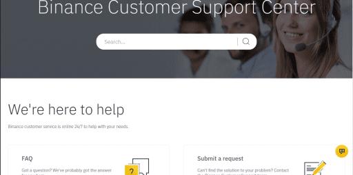 binance exchange customer support
