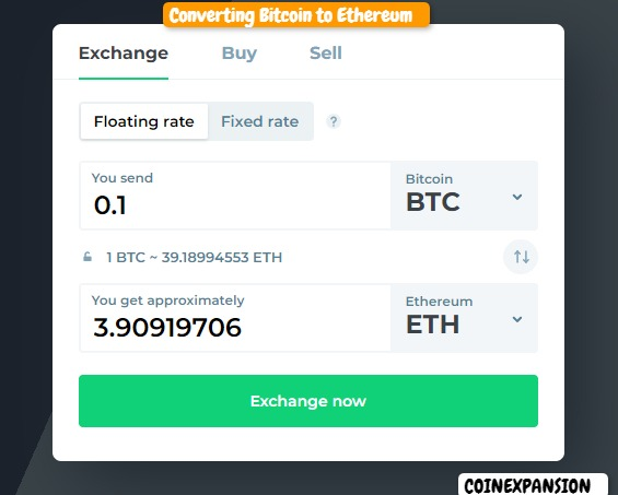 CHANGELLY CURRENCY CONVERSION