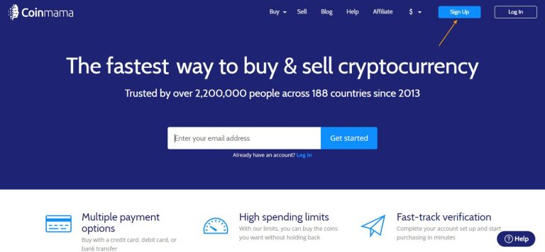 coinmama sign up scaled
