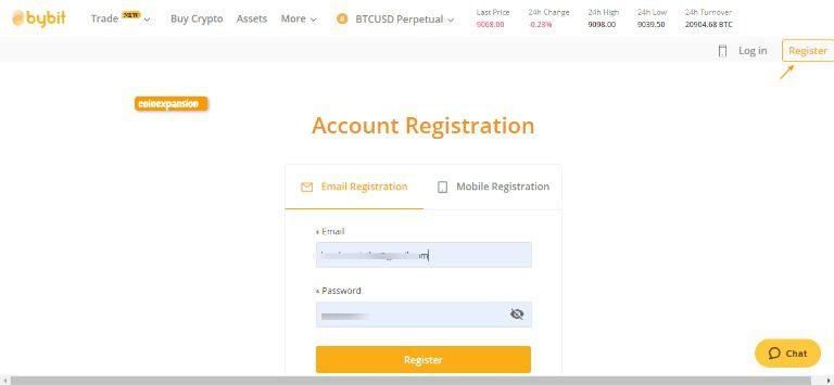 register at bybit trading platform