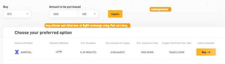 bybit exchange buy bitcoin and ethereum with fiat currency