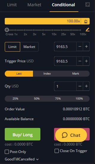 bybit exchange conditional order type