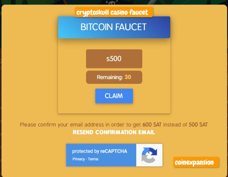 cryptoskull casino crypto faucet