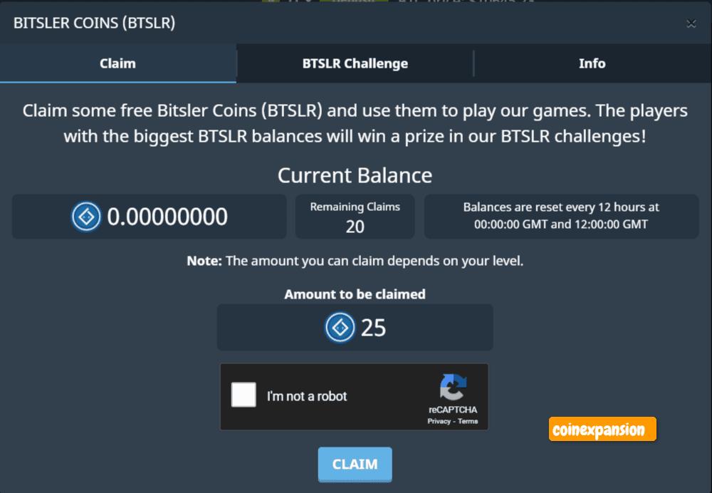 Bitsler crypto casino faucet