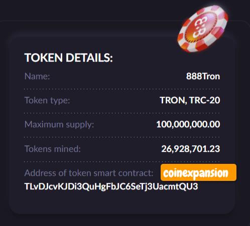 888tron token