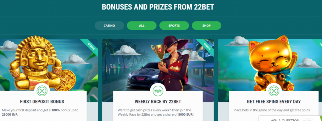 22Bet Casino Review – Crypto Betting platform features, Bonuses, and more