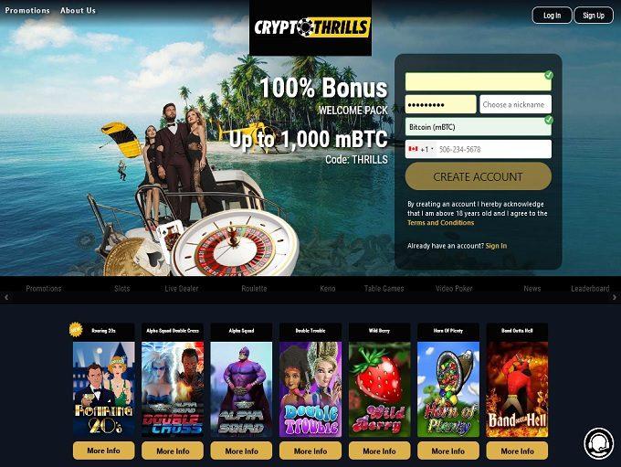 Crypto Thrills Casino Hp