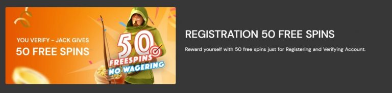 fortunejack casino 50 free spins no wagering requirements