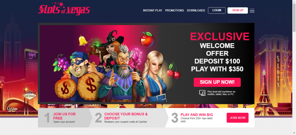 Slot Of Vegas Casino Review